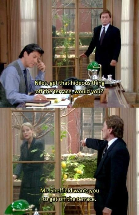 "He always did his job. | Community Post: 10 Times Niles From ""The Nanny"" Threw The Best Shade"