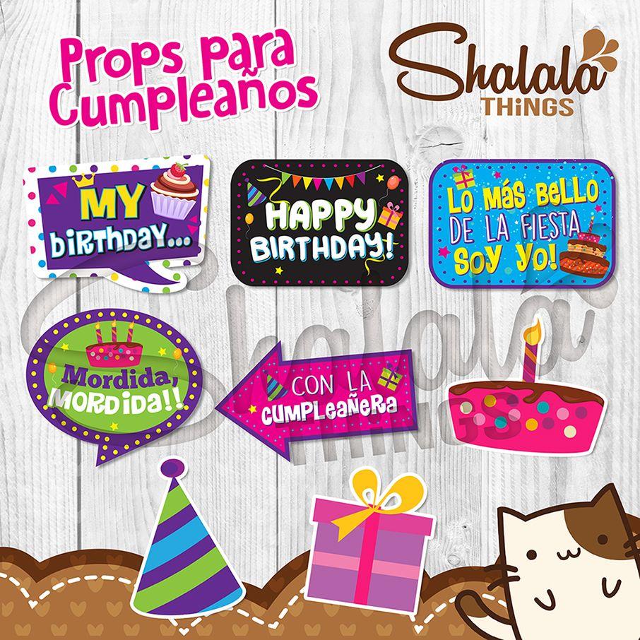 Props Para Cumpleaños Frases Y Colores Personalizados
