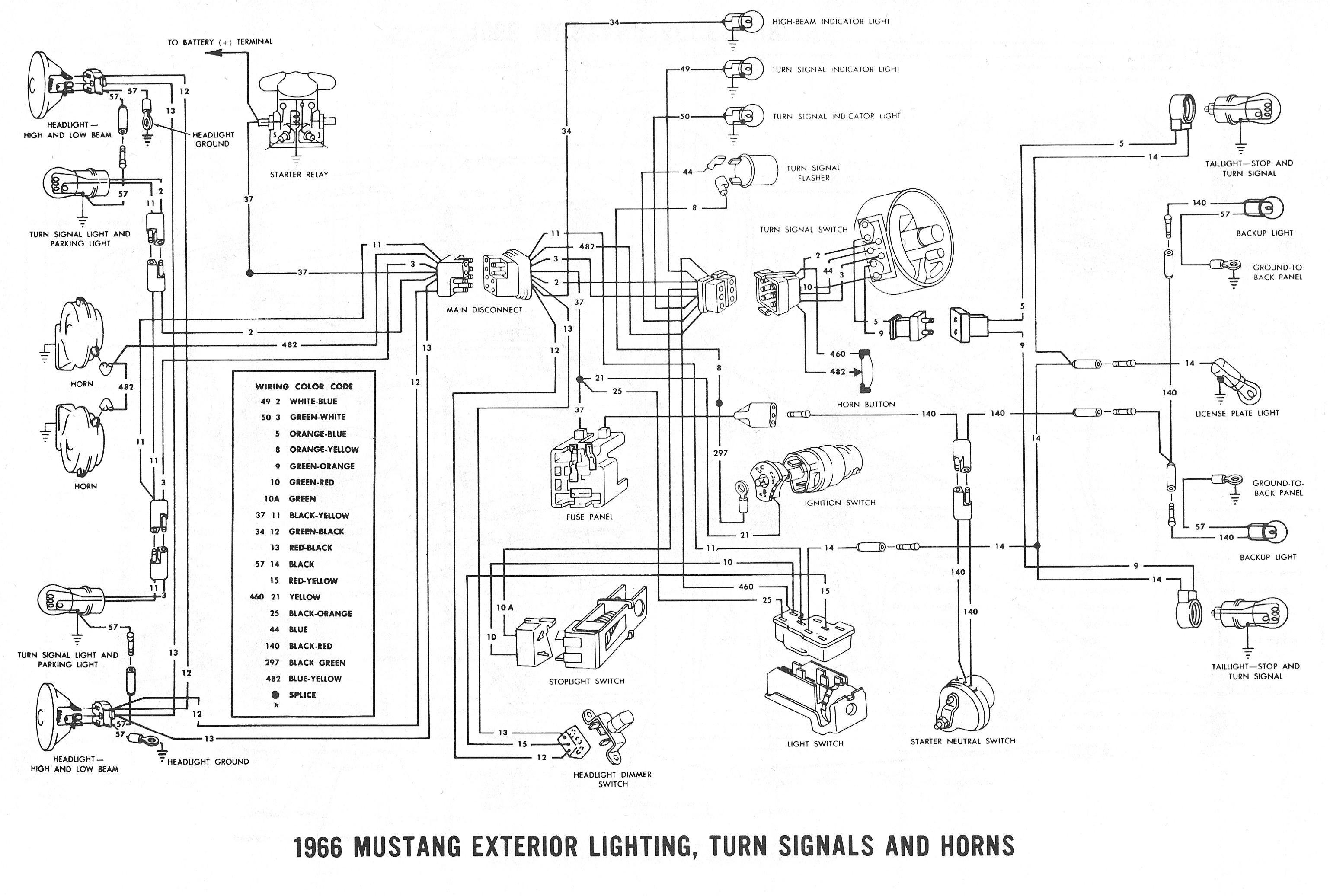 66 Mustang Alternator Wiring