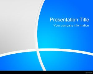 free blue manager powerpoint template is a professional and cute