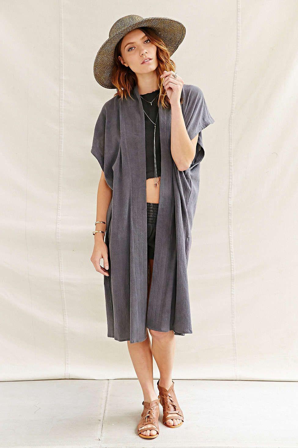 Urban Renewal Recycled Sleeveless Gauze Kimono Jacket | fashion ...