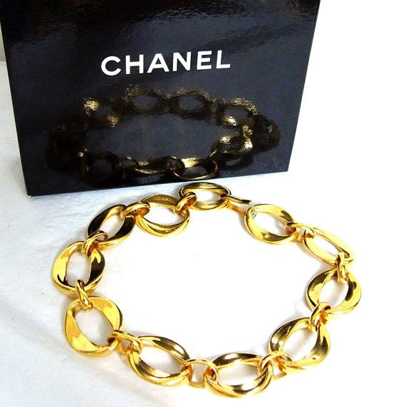 Authentic Vintage Chanel Chain Link Choker by LadyDangerVintage, $1200.00