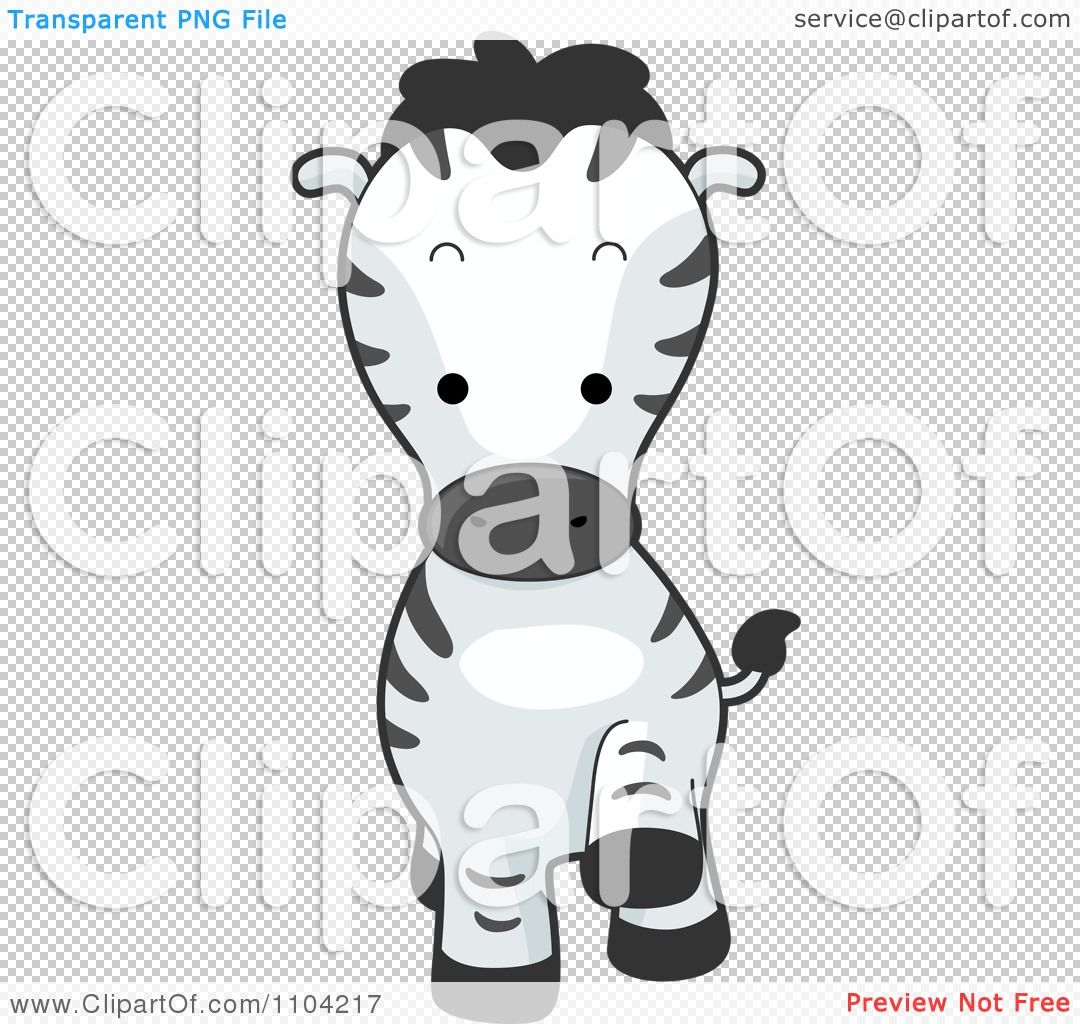 Clipart Cute Walking Zebra - Royalty Free Vector Illustration by BNP ...