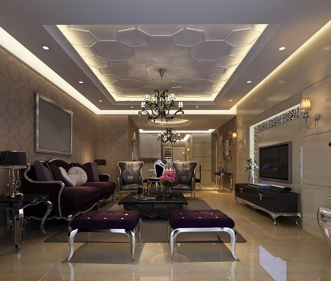 Avant Garde Luxury Family Living Room 86 3d Model In