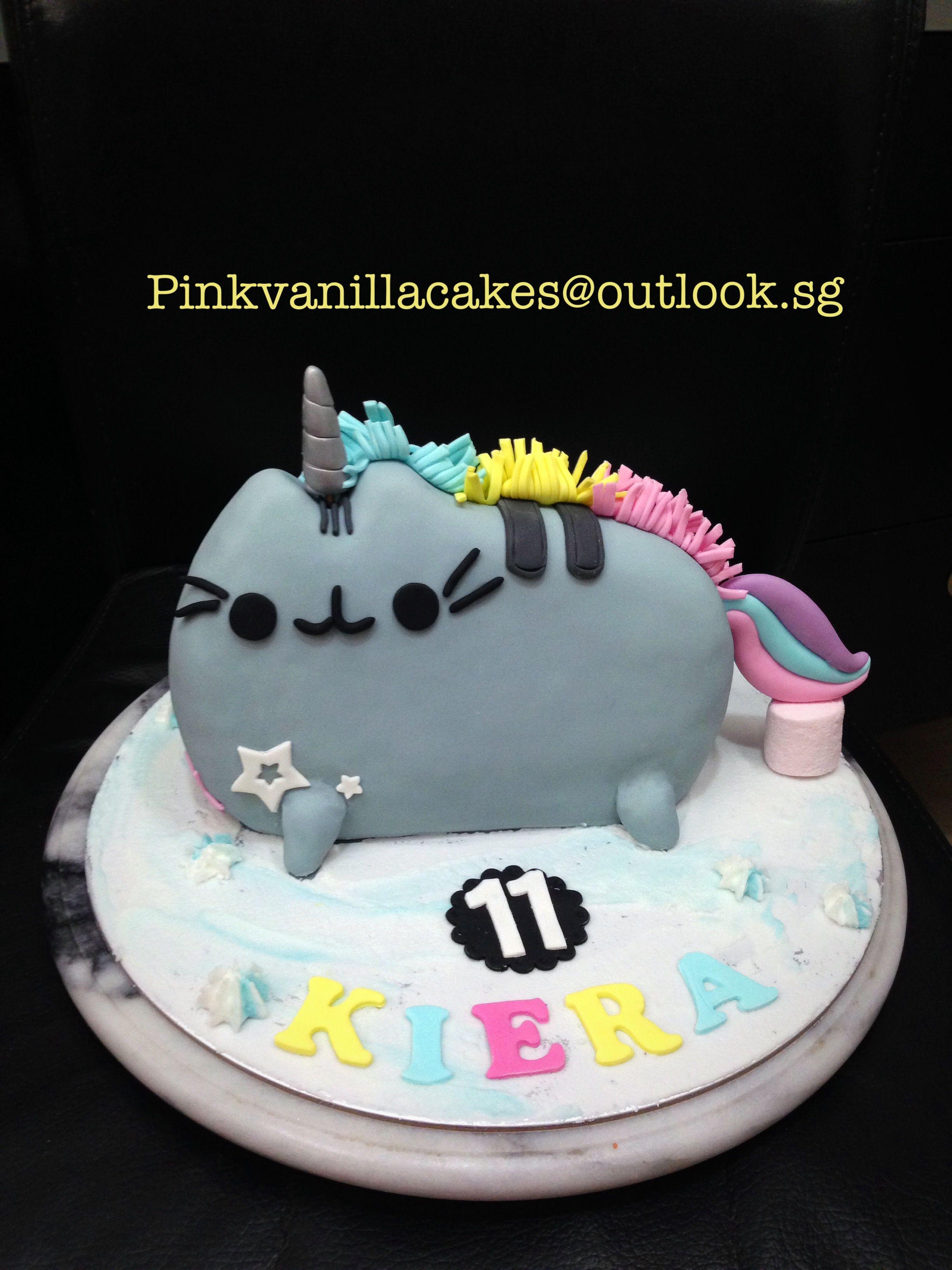 Pusheen Cat Birthday Cake 3d Pusheen Cake Singapore Kids Birthday