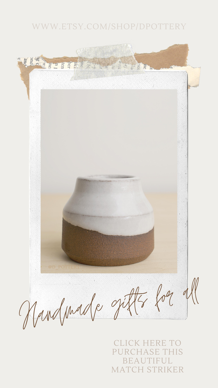 Ceramic Match Holder / Striker in 2020 Minimalist home