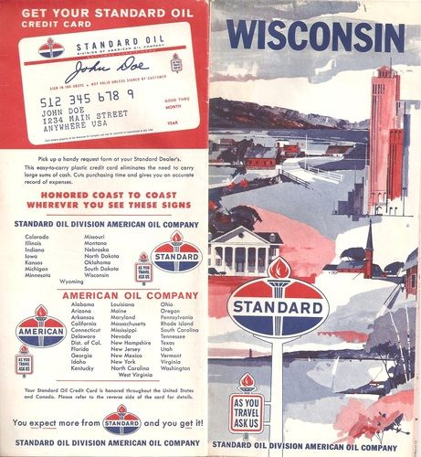 Vintage Standard Oil Road Map Wisconsin S Standard Oil - Us road map company