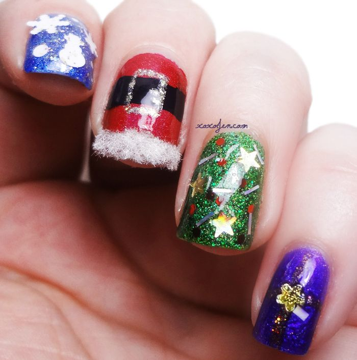 xoxoJen\'s Holiday nail art 2014 | Nail Art - Christmas and Winter ...
