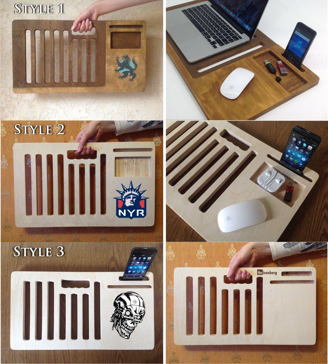 Laptop Desk Portable Desk Laptop Table Macbook By Artwoodworkin