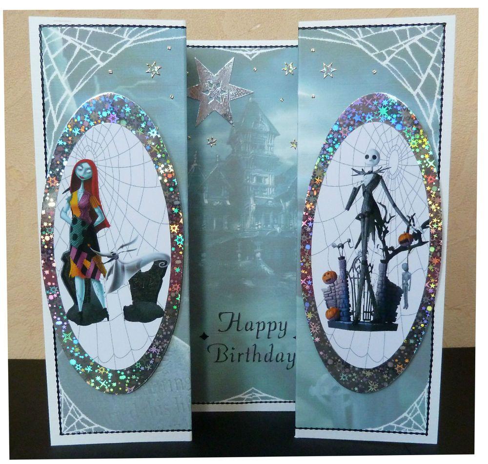 Unusual Handmade Nightmare Before Christmas Gothic Birthday Card Jack Christmas Birthday Cards Nightmare Before Christmas Birthday Cards