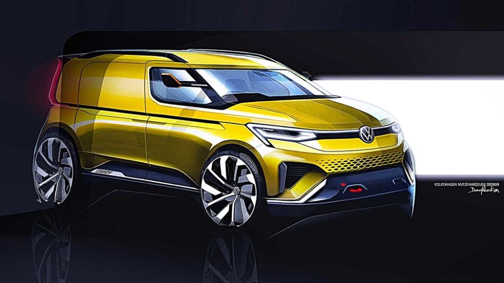 全新世代2020年式Caddy概念車設計草圖揭露,非常時尚運動風但只是個概念 Yahoo奇摩汽車機車