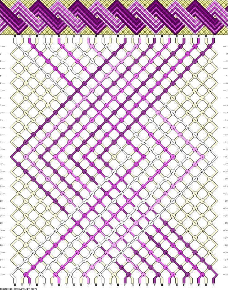Muster # 73373, Streicher: 28 Zeilen: 32 Farben: 6 | bracelets ...