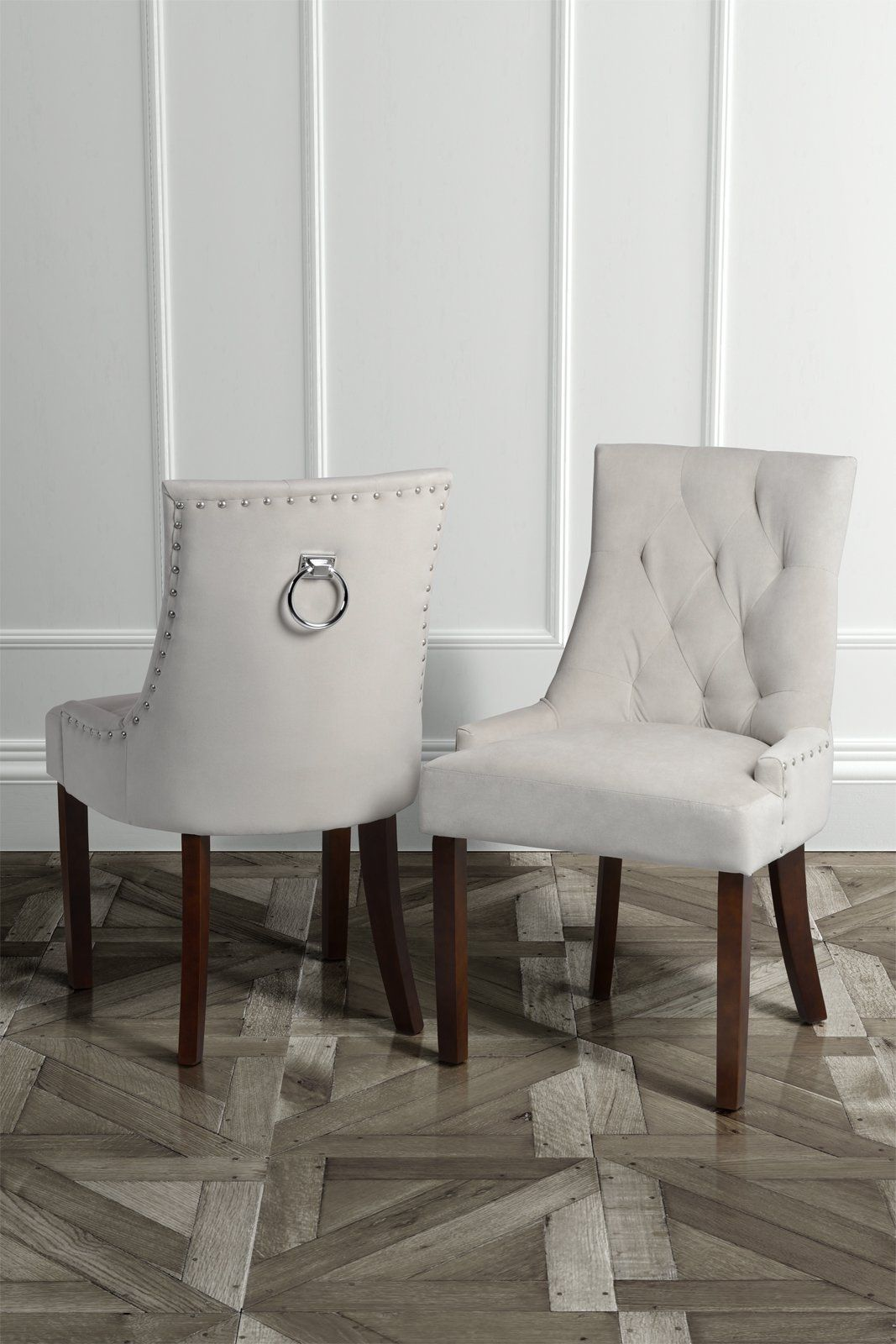 High Quality Upholstered Scoop Back Dining Chair with back ...