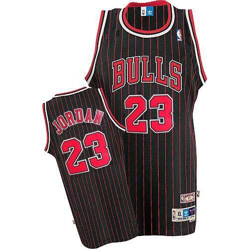 more photos ff68a 7a2f6 Men's Michael Jordan Authentic Black/Red Jersey: Adidas #23 ...