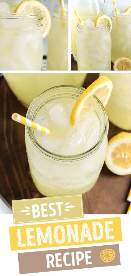The BEST Homemade Lemonade Recipe! #homemadelemonaderecipes