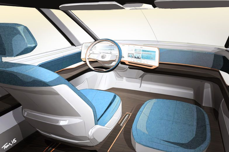 The Volkswagen Budd-e concept is an all-electric car that points toward the type of EV Volkswagen could sell by 2019.