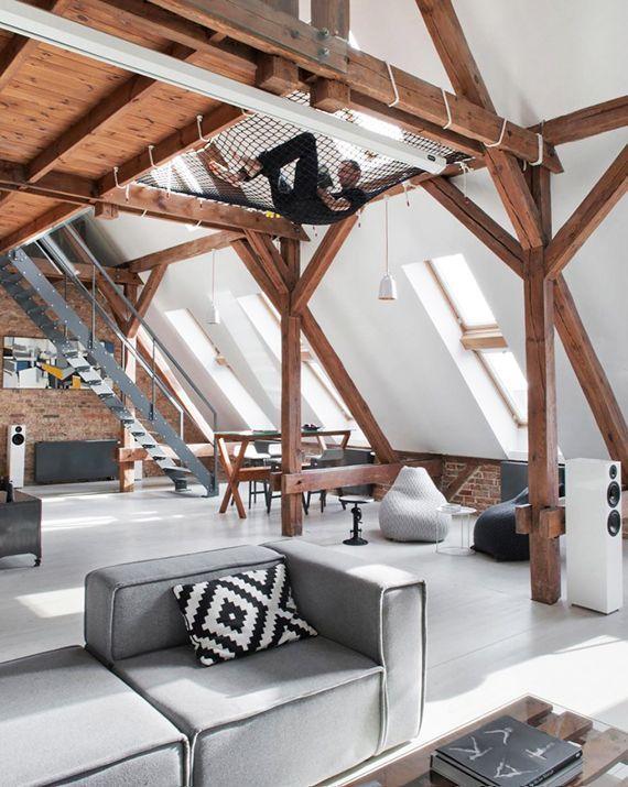 Einrichtungsideen für das Dachgeschoss. Alternative zur Hängematte ...
