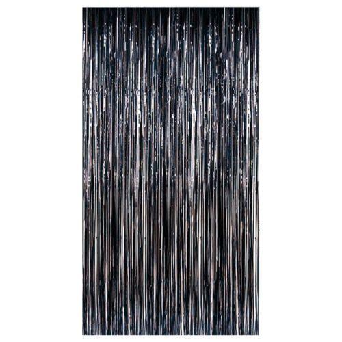 Black Party Halloween Plastic Fringe Door Curtain Decoration 91cm X 243cm Door Curtains Curtain Decor Curtains