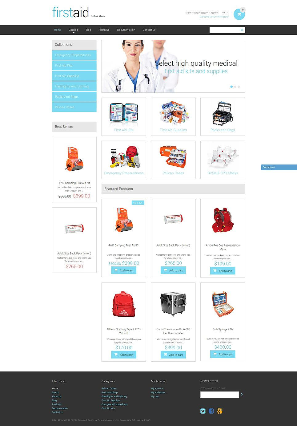 Ambulance Responsive Shopify Theme | Advertising Poster