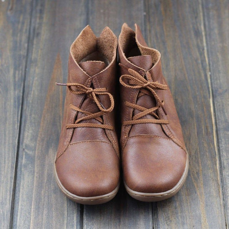 Handmade Shoes,Ankle Boots,Oxford Women Shoes, Fla