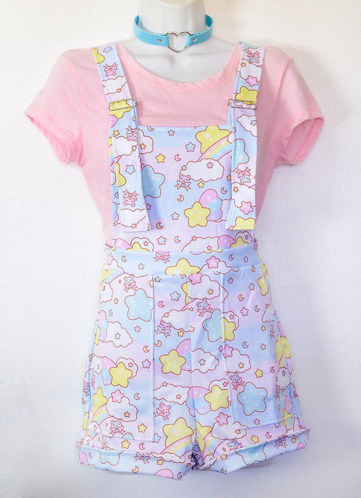 Over The Rainbow Overalls   Kawaii dress, Pastel goth ...