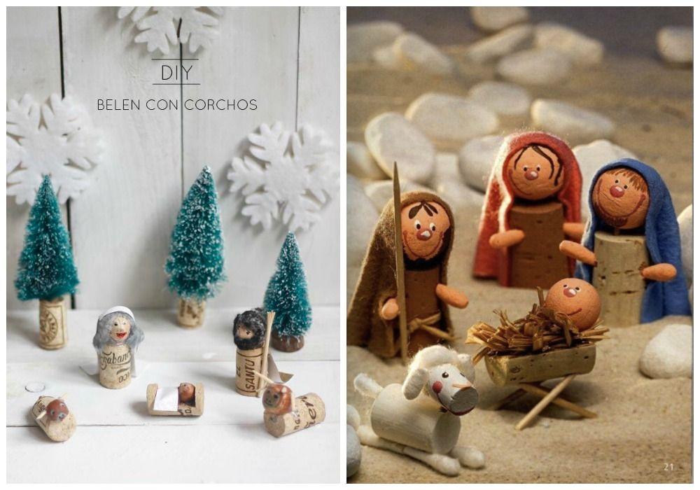 Manualidades con corchos para hacer con los peques de casa - Belen navideno manualidades ...