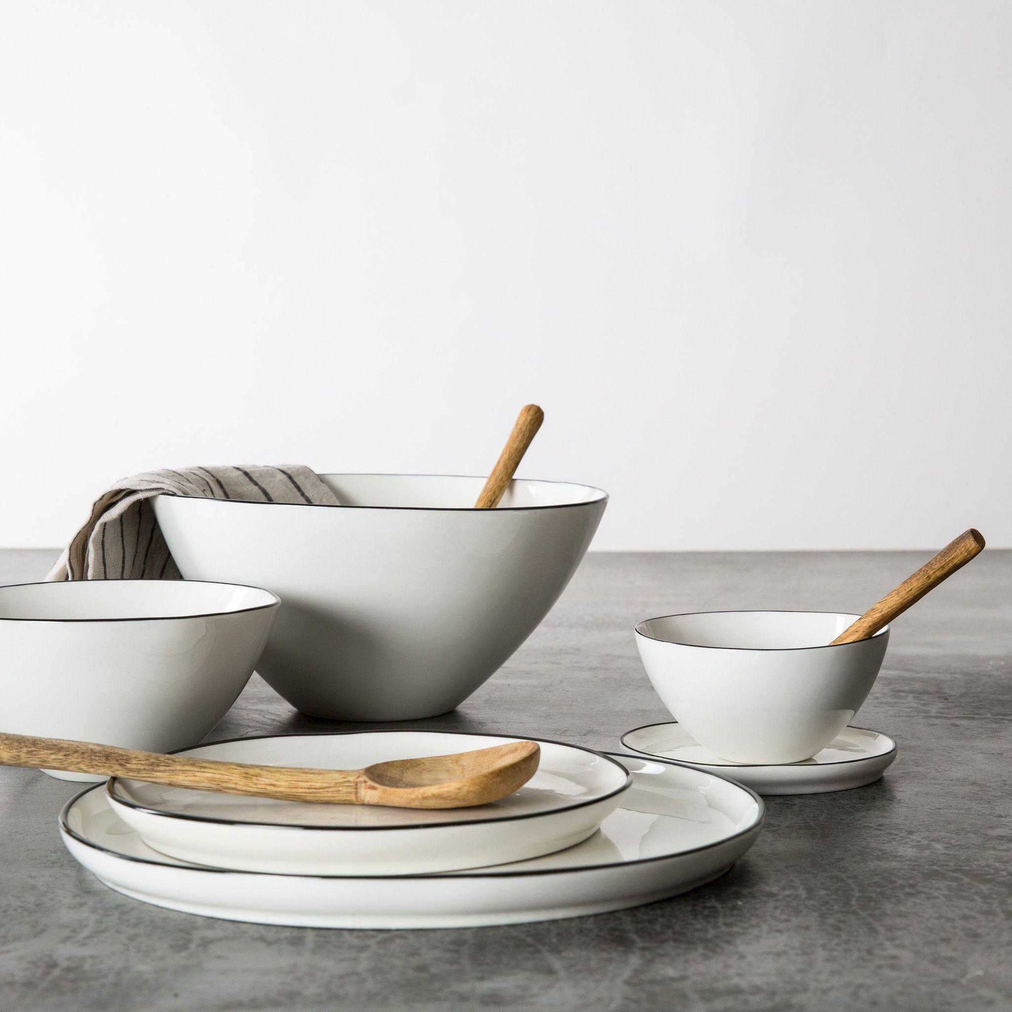 Black Rimmed Plates | Black rims, Joanna gaines and Kitchen design