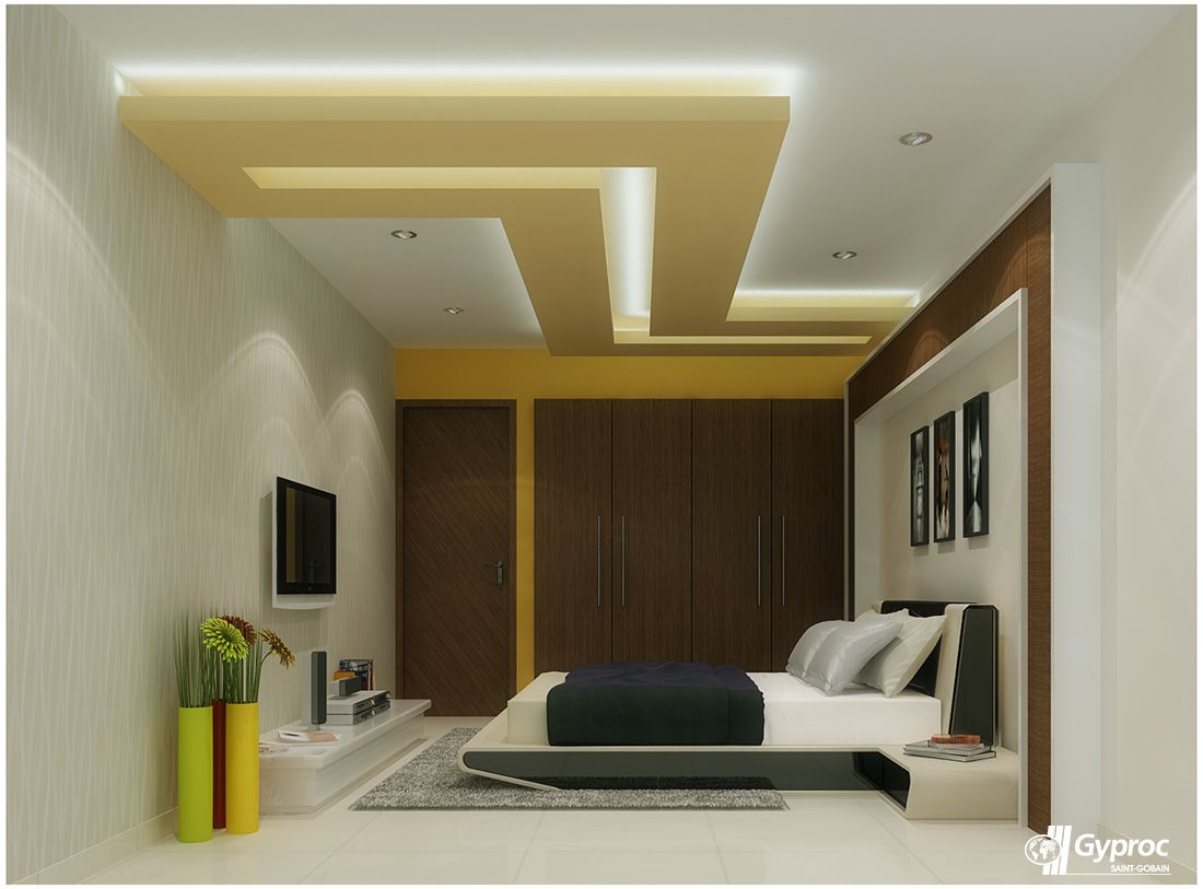 This gracious and artistic falseceiling will definitely for Bedroom gypsum ceiling designs photos