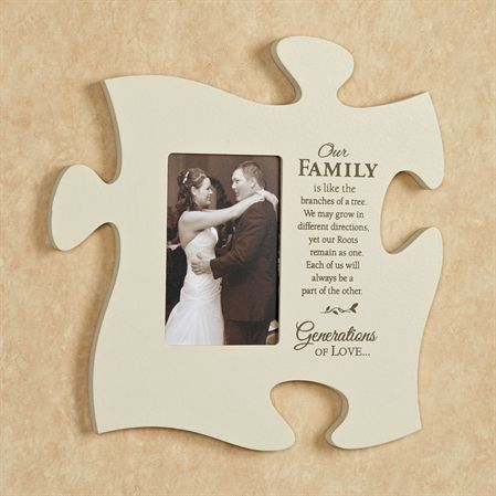 Our Family Photo Frame Puzzle Piece Wall Art | home decor ...