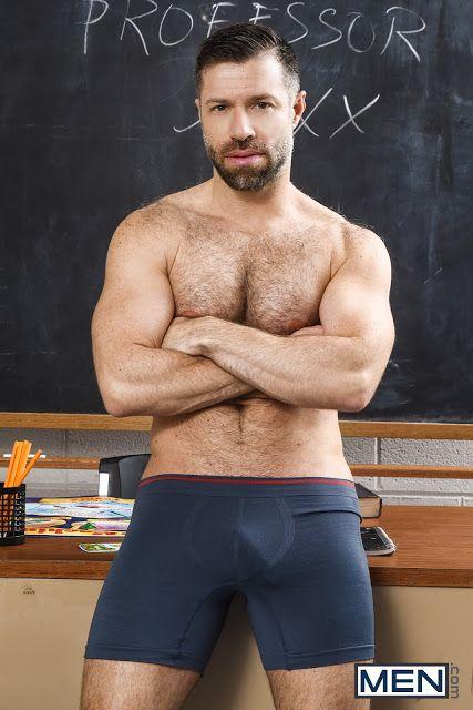 Tristan Jaxx Hairy Chest Daddy Guys Image Men Briefs Boxer