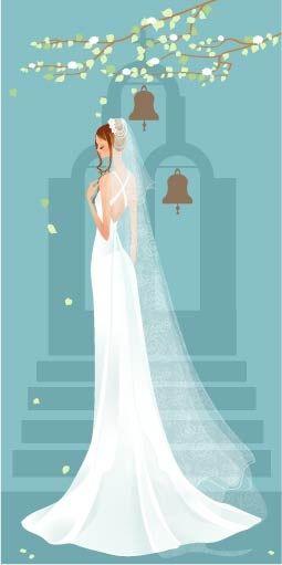free vector 40 zhang meili wedding bride vector | carterie | Pinterest