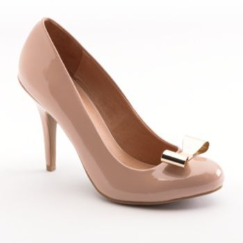 e3e2a1197db LC Lauren Conrad High Heels - Nude with gold bow -  29.97 (sale)