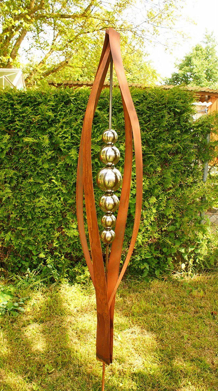 Gartendeko rost skulptur 2 meter tulpia rostiges for Metallskulpturen garten