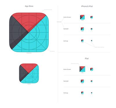 Grids and Icons for Creating iOS 7 Templates   Icons, Template and ...