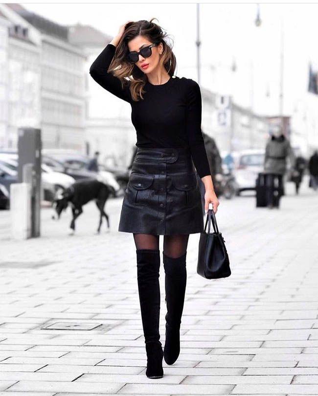 6 способов носить юбку из кожи (ФОТО) | Новые образы ...