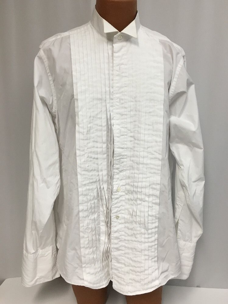 85ee62ca Brooks Brothers Tuxedo Shirt 16 1/2 36 Wingtip White French Cuff Cotton  Dress #BrooksBrothers