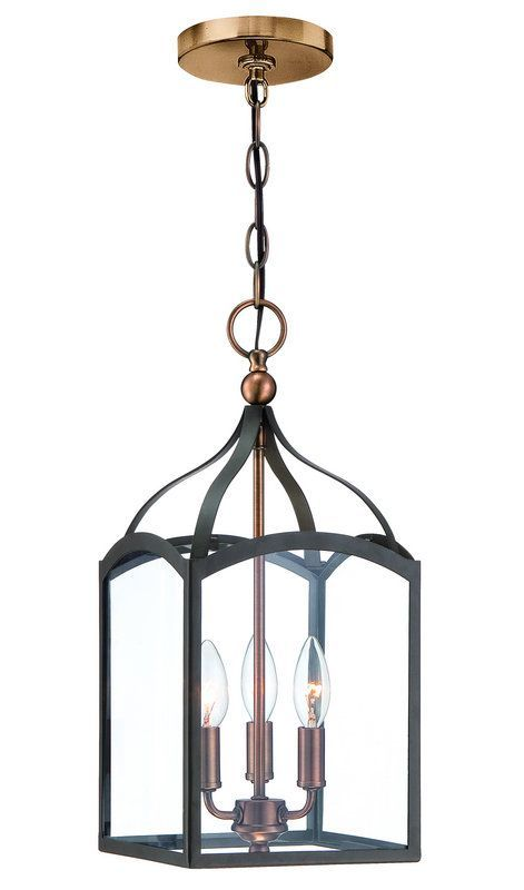 View The Hinkley Lighting 3413 3 Light Lantern Pendant From Clarendon Collection At LightingDirect