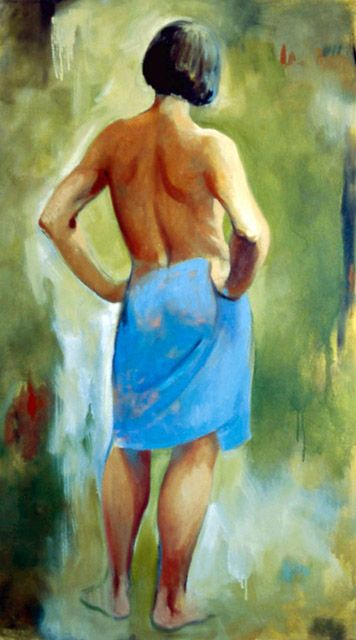 Blue Towel by Margarita Sikorskaia