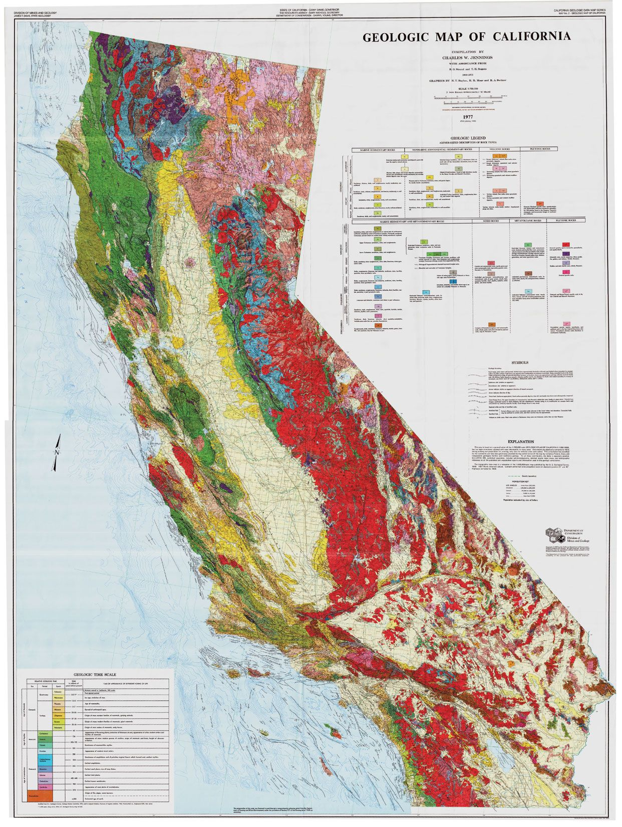Geologic Map Of California Geological map of California 1891 | Geology/paleontology | Map  Geologic Map Of California