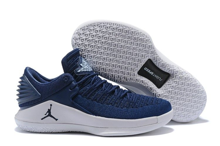 2018 Cheap Air Jordan 32 Low Midnight Navy White For Sale