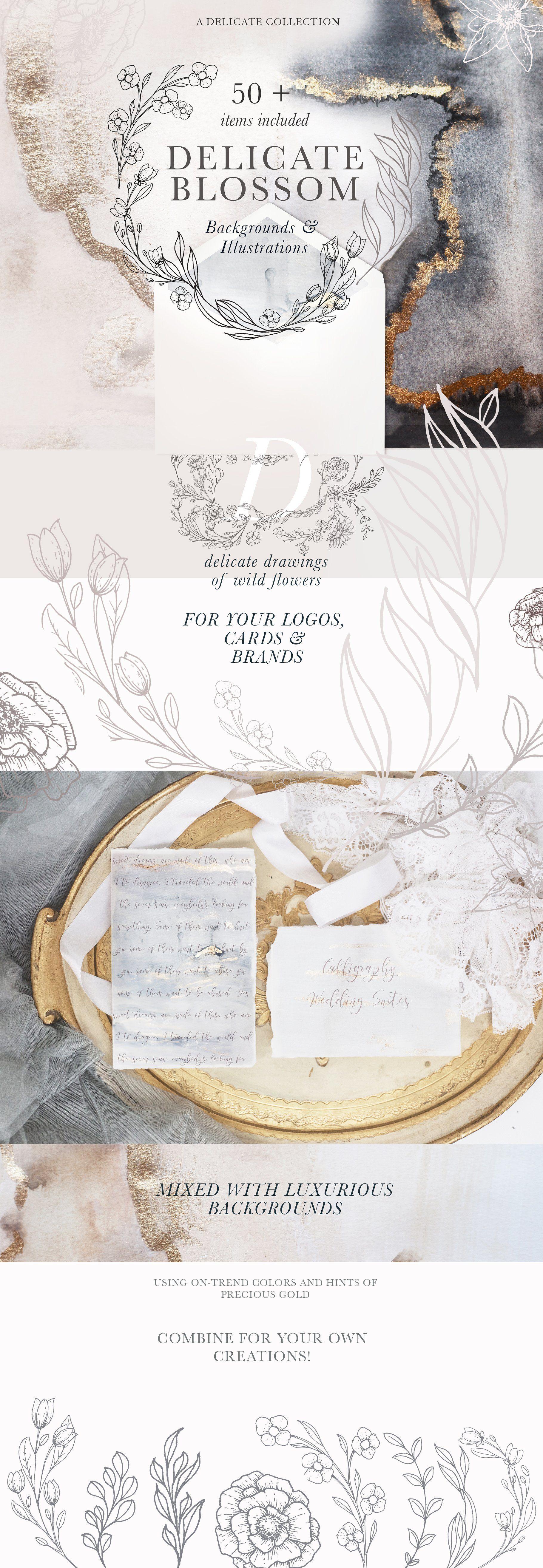 Modern Floral Illustrations Landing Page Templates Pinterest