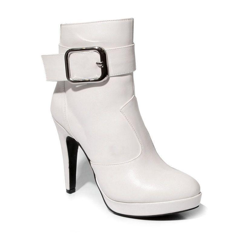 2 Lips Too Womens Vivian Bootie Stiletto Heel Zip Zapatos De Tacón Alto Para  Mujer d064c9e07d91