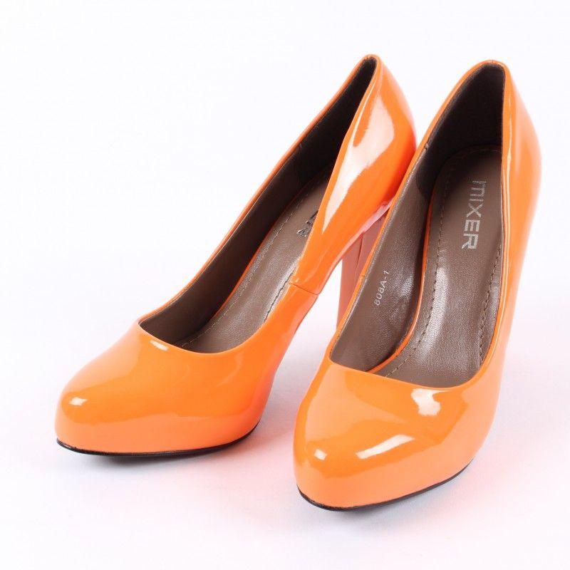 1c7f8cf07e Dámské lakované lodičky Mixer oranžové
