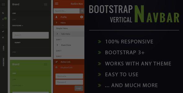 Download Free Resposive Bootstrap Vertical Navbar Navigation