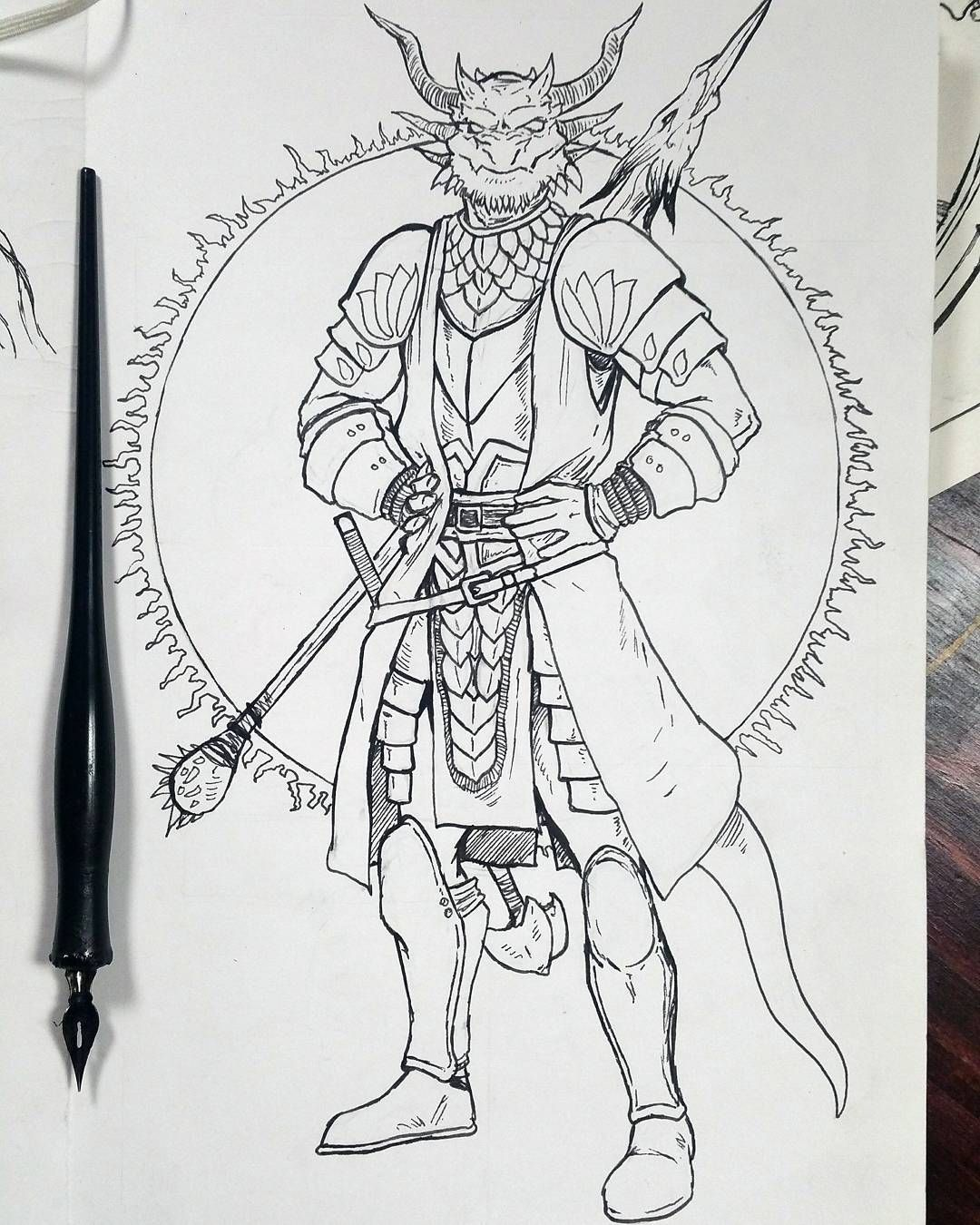 female dragonborn coloring pages - photo#21