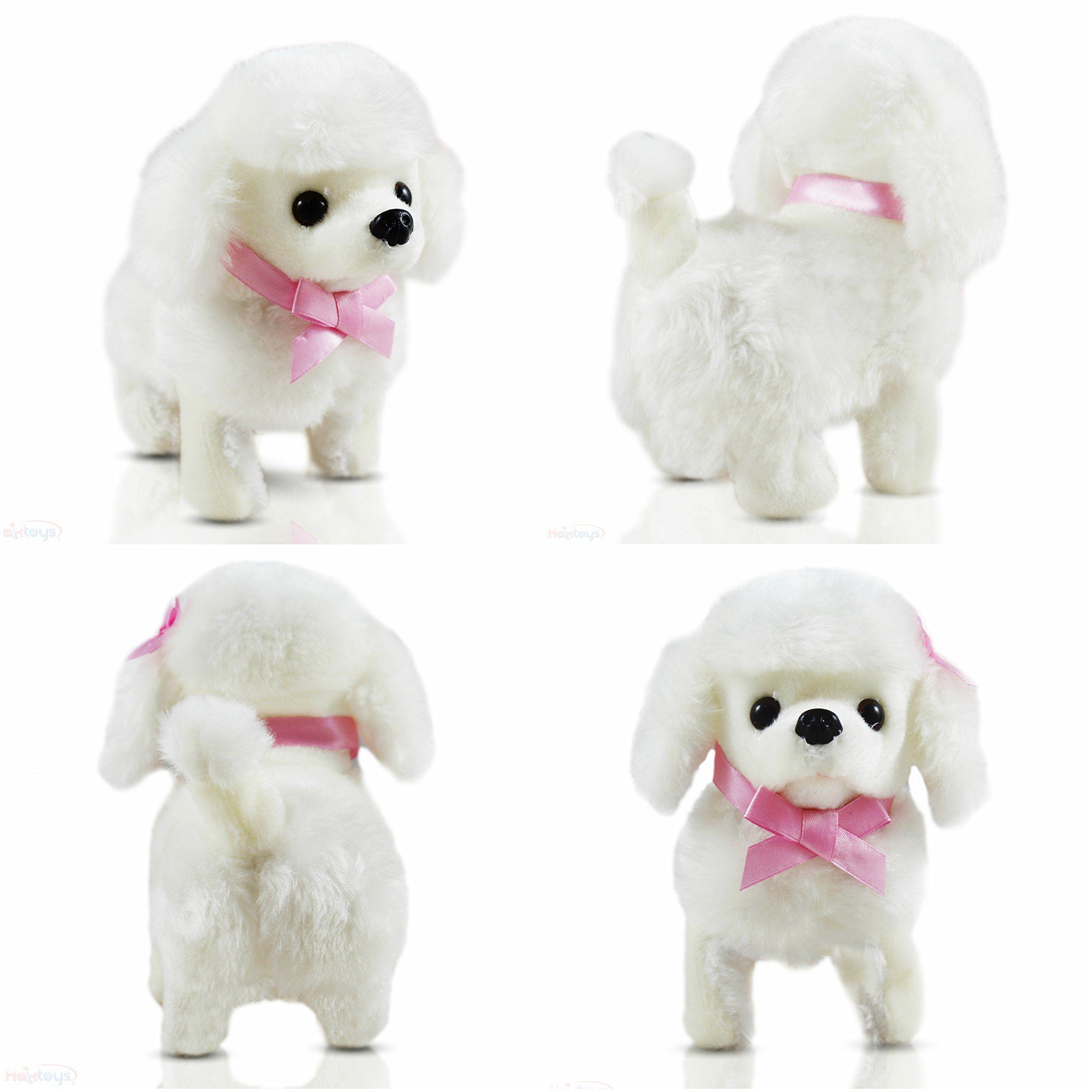 Haktoys Sweet Poodle Plush Doggy Battery Operated Walking