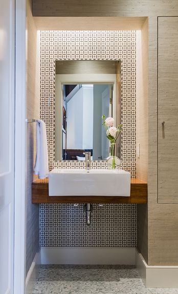 Expert Tips For Bathroom Design In The Powder Room Warm Teak And