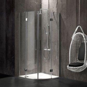 Box doccia semicircolare 90x90 in cristallo senza telaio