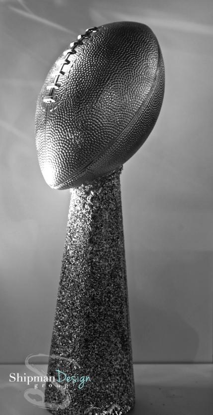 Diy Superbowl Lombardi Trophy Fantasy Football Trophy Super Bowl Decorations Super Bowl Football