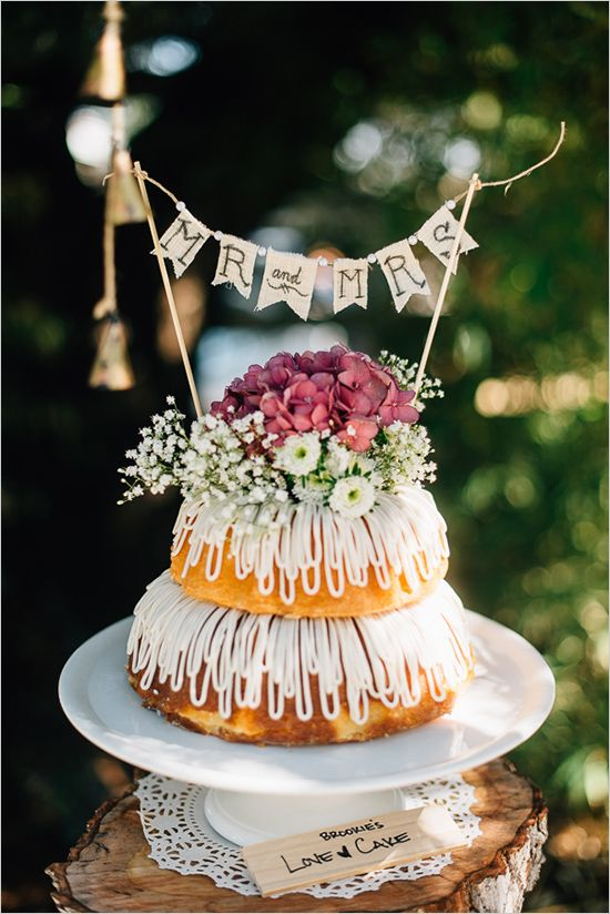 Two Tier Bunt Wedding Cake Weddings